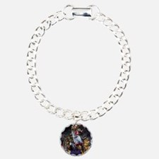 Dogs Playing Basketball Charm Bracelet, One Charm