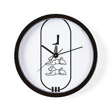 """Bill in Hieroglyphics """"Black"""" Wall Clock"""