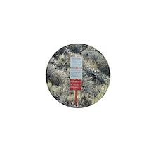 Groom Lake Road Warning Sign Mini Button