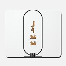 "Bill in Hieroglyphics ""Color"" Mousepad"