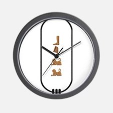"Bill in Hieroglyphics ""Color"" Wall Clock"