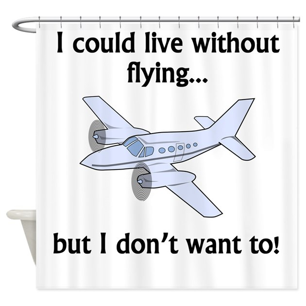 i could live without flying shower curtain by