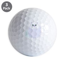 white Cat Golf Ball