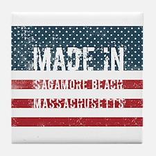 Made in Sagamore Beach, Massachusetts Tile Coaster