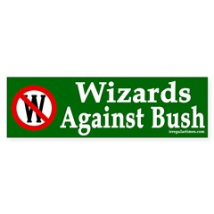 Wizards Against Bush (bumper sticker)