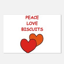 biscuits Postcards (Package of 8)