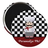 Fat chef Magnets