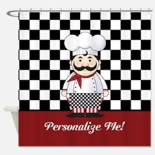 Personalized French Chef Shower Curtain