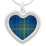 Tartan - Oliphant Silver Heart Necklace
