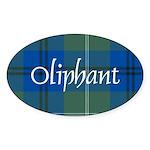 Tartan - Oliphant Sticker (Oval)
