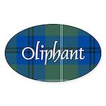 Tartan - Oliphant Sticker (Oval 10 pk)