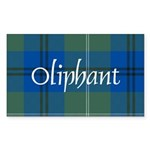 Tartan - Oliphant Sticker (Rectangle 10 pk)
