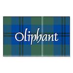 Tartan - Oliphant Sticker (Rectangle 50 pk)