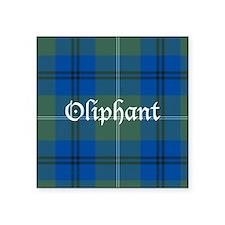 """Tartan - Oliphant Square Sticker 3"""" x 3"""""""