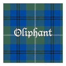 "Tartan - Oliphant Square Car Magnet 3"" x 3"""