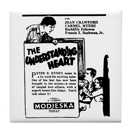 Joan Crawford Understanding Heart Tile Coaster