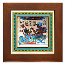 EGYPTIAN  Framed Tile #4