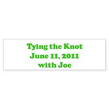 Tying the Knot June 11, 2011 Bumper Bumper Sticker