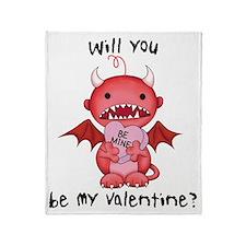 devil valentine Throw Blanket