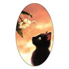 Cat and Flower Decal