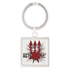Bite Me Square Keychain