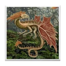 Autumn Leaf Dragon Tile Coaster