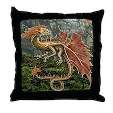 Autumn Leaf Dragon Throw Pillow