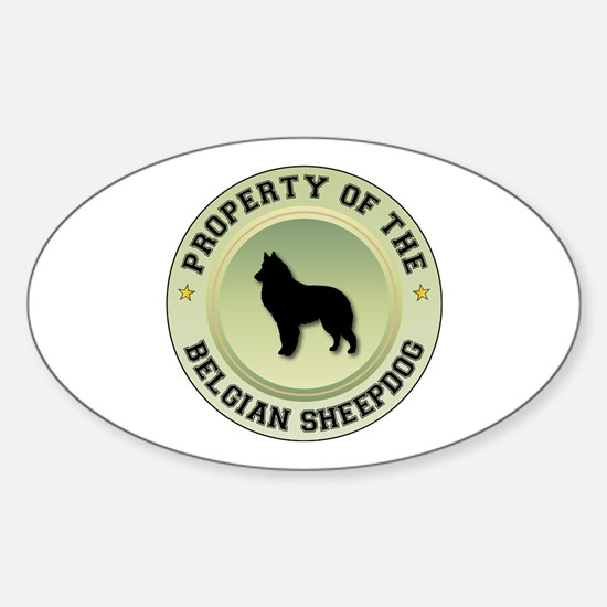 Sheepdog Property Oval Decal