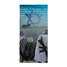 Watchman On Your Walls Beach Towel