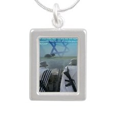 Watchman On Your Walls Silver Portrait Necklace