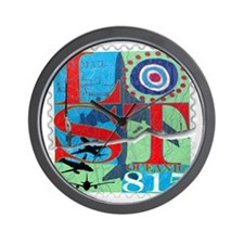 lost postage stamp torn good copy reall Wall Clock