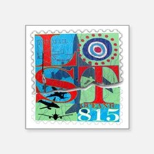 "lost postage stamp torn goo Square Sticker 3"" x 3"""