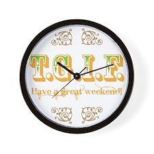 tgif2 Wall Clock