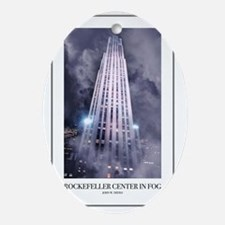 Rockefeller-Poster Oval Ornament