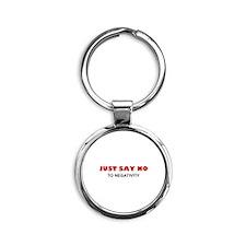 Just Say No To Negativity Round Keychain