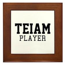 Teiam Player Framed Tile