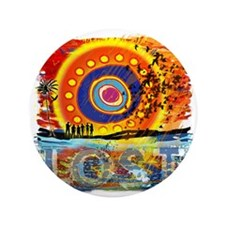 """LOST OCEANIC SUNSET NEW copy 3.5"""" Button"""