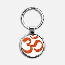 orange_om Round Keychain