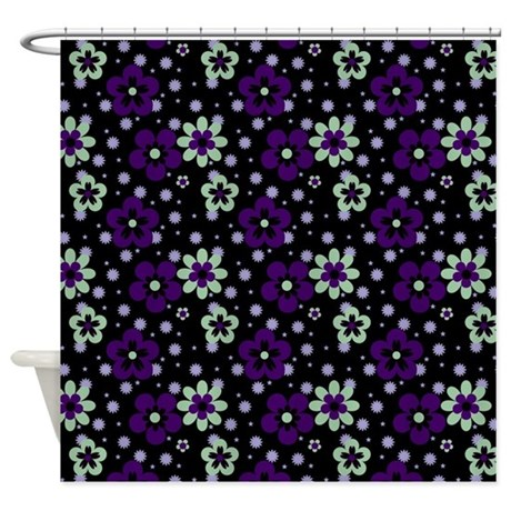 Purple Pansy flower pattern Shower Curtain by Damask ...