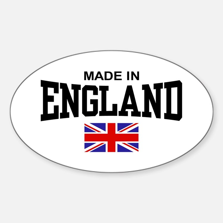 Made in England Oval Decal