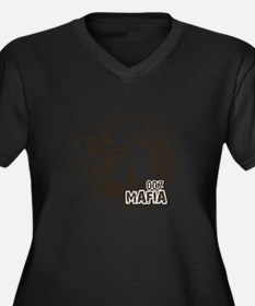007 Mafia Women's Plus Size Dark V-Neck T-Shirt