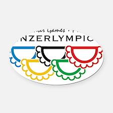 yinzerlympics_big Oval Car Magnet