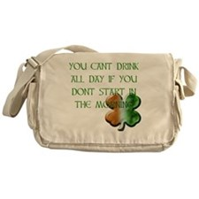 WHITE - YOU CANT DRINK ALL DAY IF YO Messenger Bag
