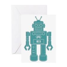 RobotBrown Greeting Card