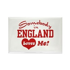 Somebody in England Loves Me Rectangle Magnet