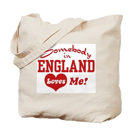 Somebody in England Loves Me Tote Bag