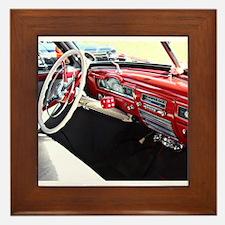 Classic car dashboard Framed Tile