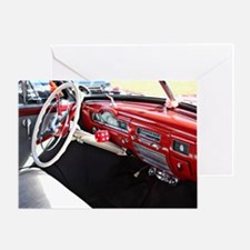 Classic Car Dashboard Greeting Cards