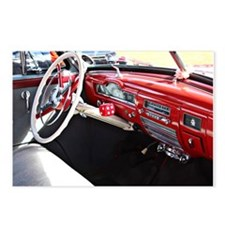 Classic car dashboard Postcards (Package of 8)