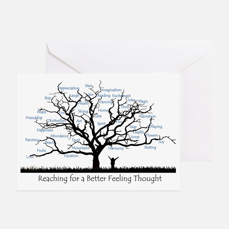 Reaching for a better feeling though Greeting Card